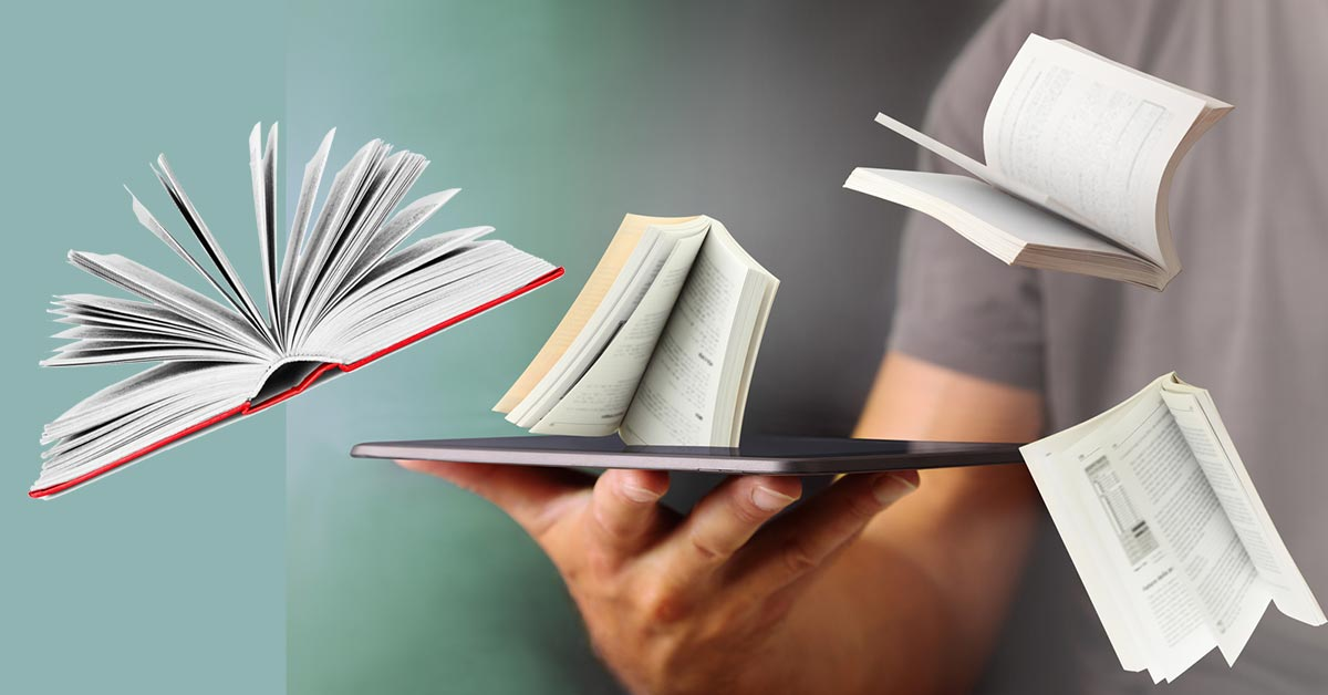 Olika format på böcker: ebok, ljudbok, inbunden, pocket